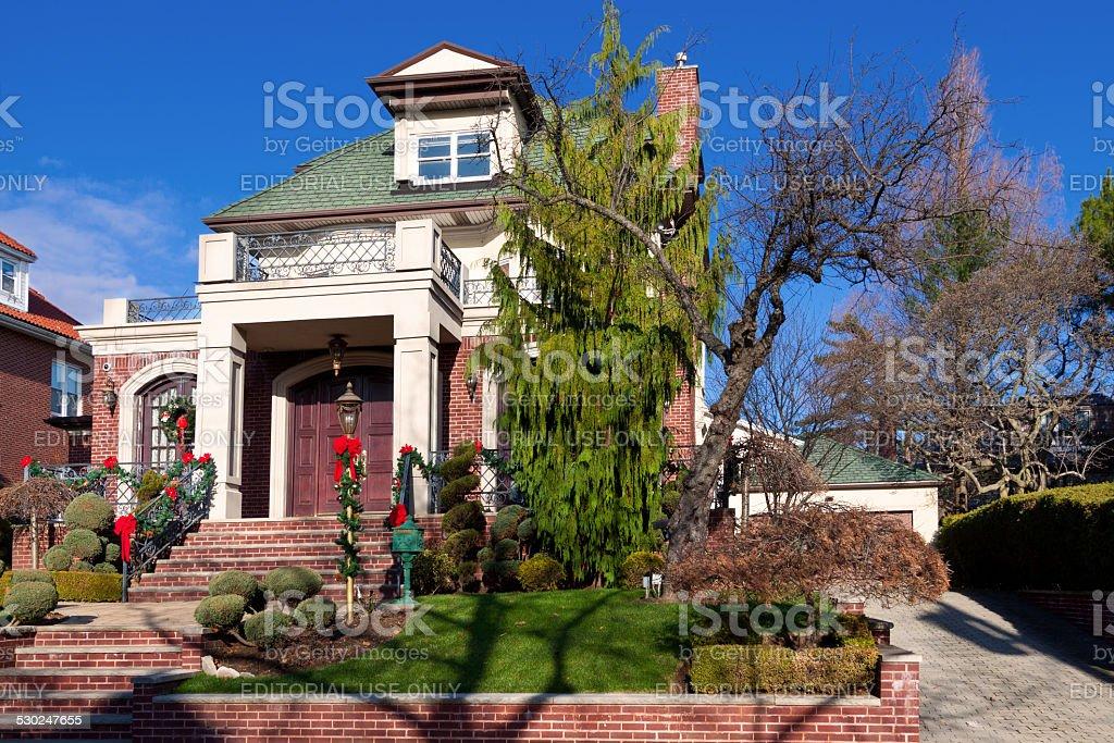 Albero Di Natale Con Decorazioni Blu : Lusso con decorazioni di natale a casa di brooklyn new york blu