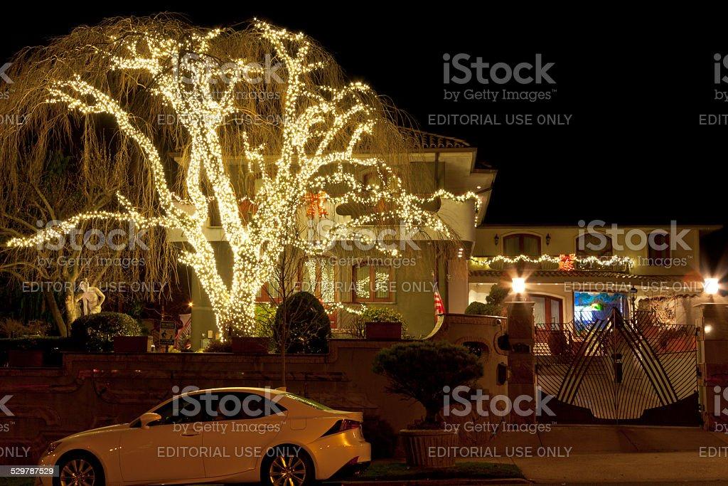Haus Weihnachtsbeleuchtung.Luxushotel In Brooklyn Haus Mit Weihnachtsbeleuchtung In Der