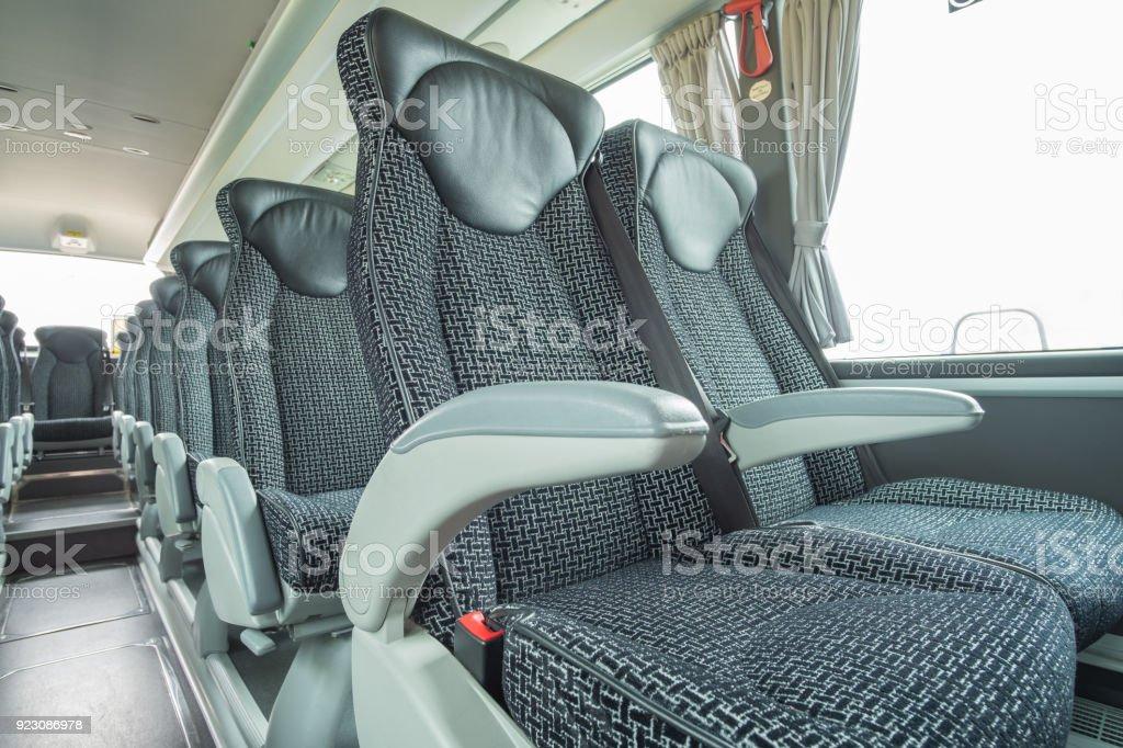 Vistas interiores de autobús y autocar de lujo - foto de stock