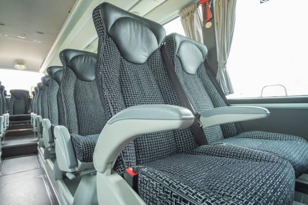 luxus bus & trainer innenansichten - gepolsterte bank stock-fotos und bilder