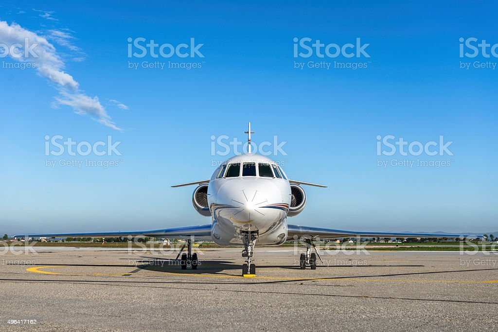 Luxury business jet stock photo