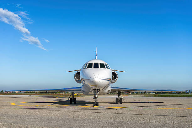 Luxury business jet stock photo