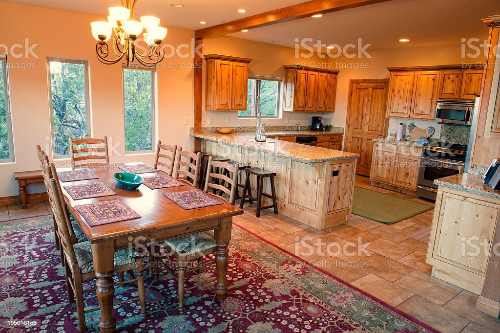 Luxury Cabin Interior stock photo