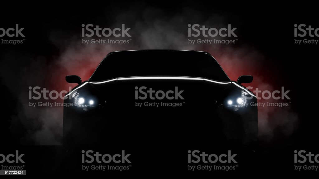 luxury car burning tyres stock photo