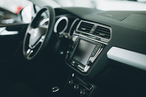 luxury car interior - car interior stock photos and pictures
