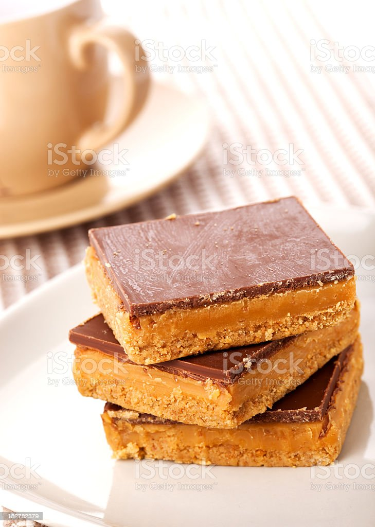 Luxury caramel shortcakes royalty-free stock photo