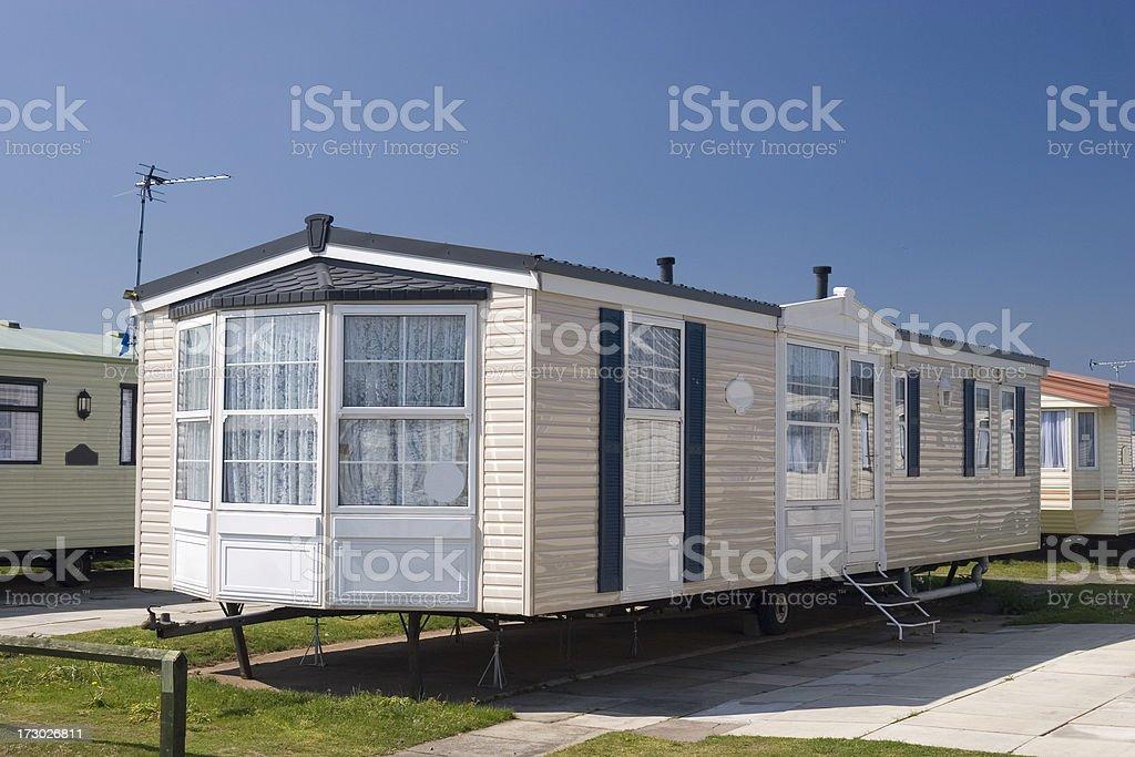 Luxury caravan, static holiday home royalty-free stock photo