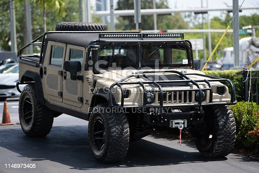 Miami, FL, USA - May 3, 2019: Photos of luxury cars for sale at Miami Prestige Imports