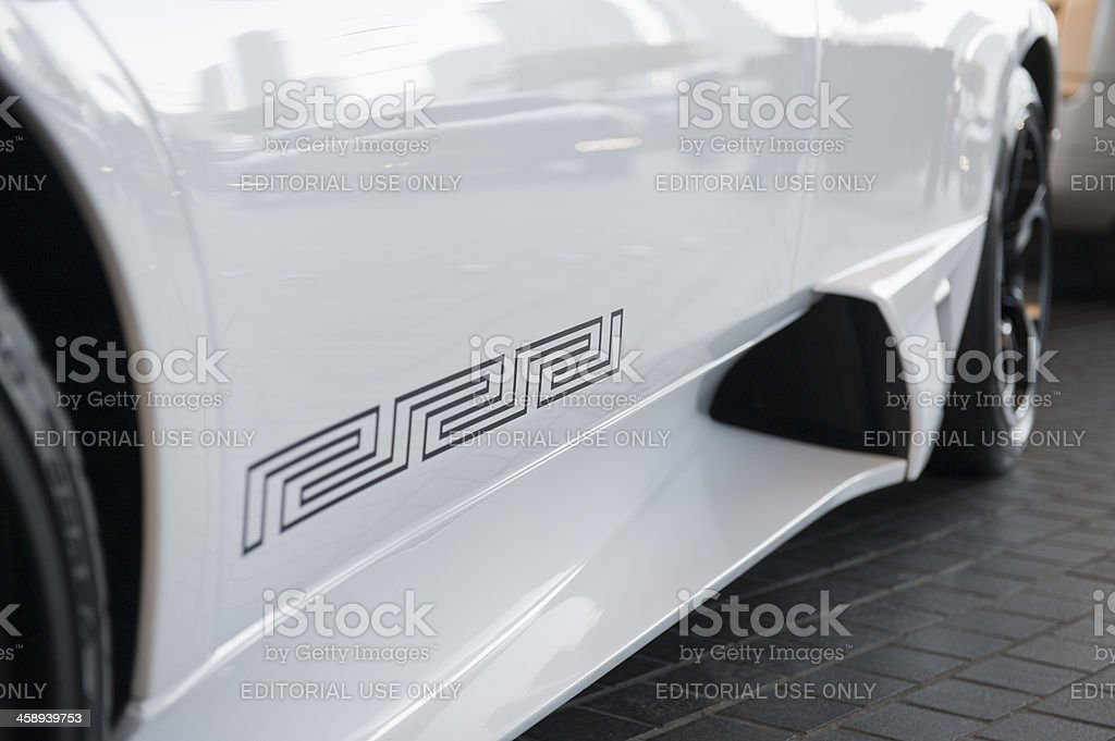 luxury cars in front of dubai mall royalty-free stock photo