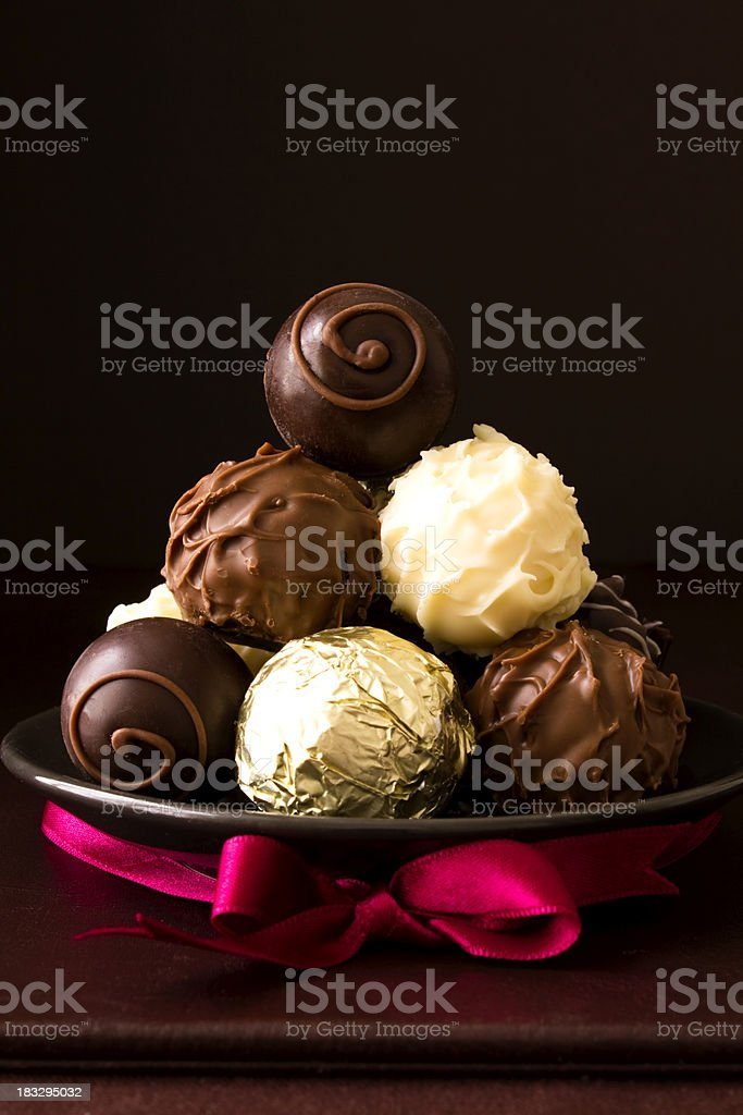 Luxury chocolates stock photo