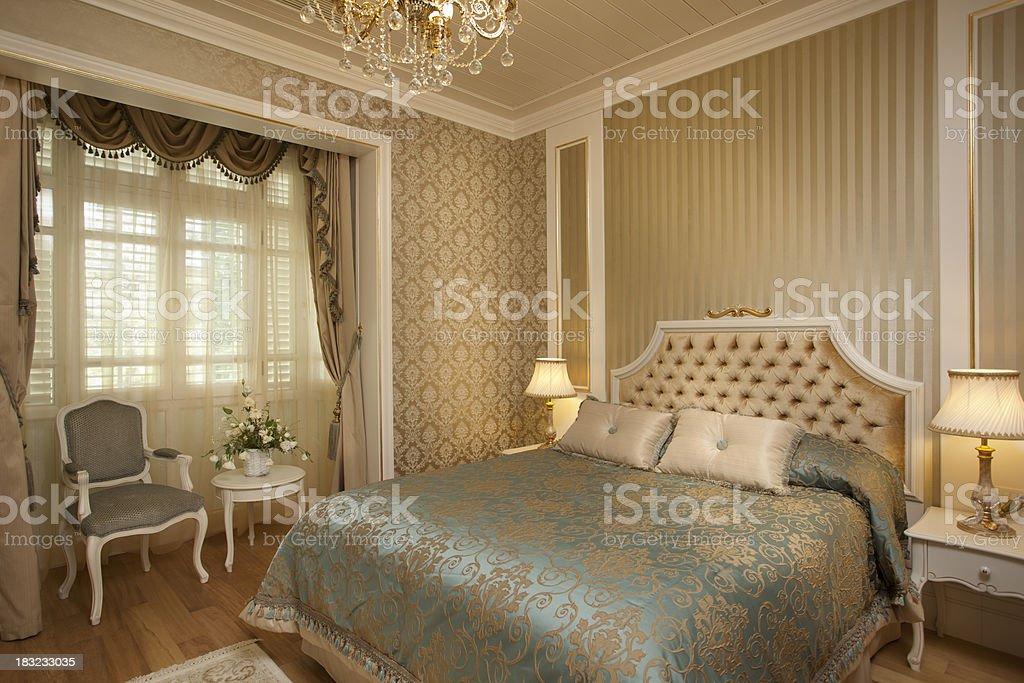Luxury Classic Bedroom XXXL stock photo