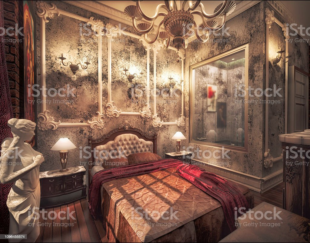 Luxury Classic Hotel Room Design Hotel Room Render By 3d Software Stock Photo Download Image Now Istock