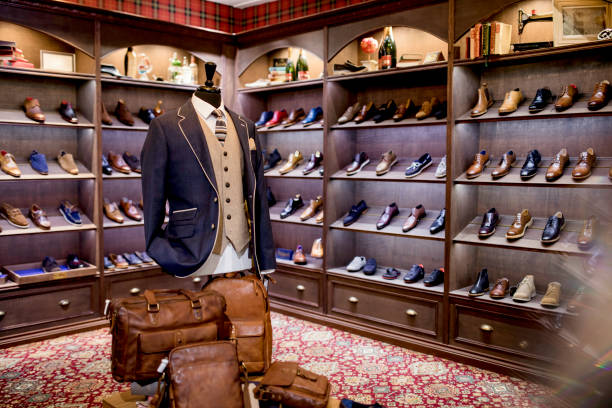 Luxury Clothing Shop for Men stock photo
