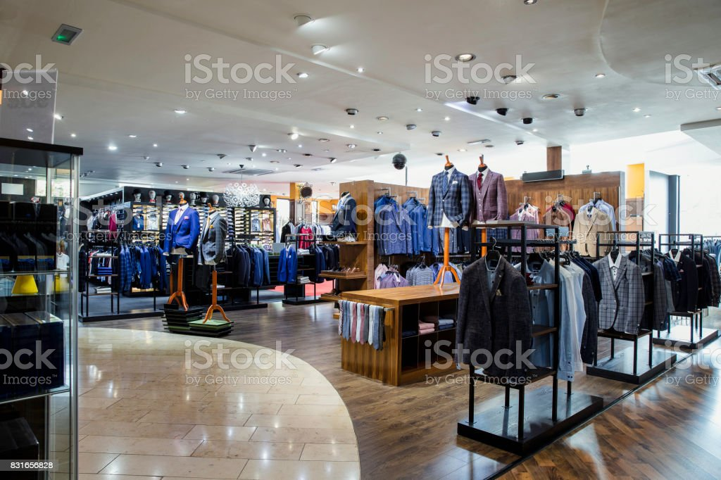 Luxury Clothing Store for Men stock photo
