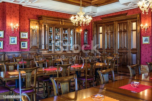 istock Luxury coffee shop interior 1045909460