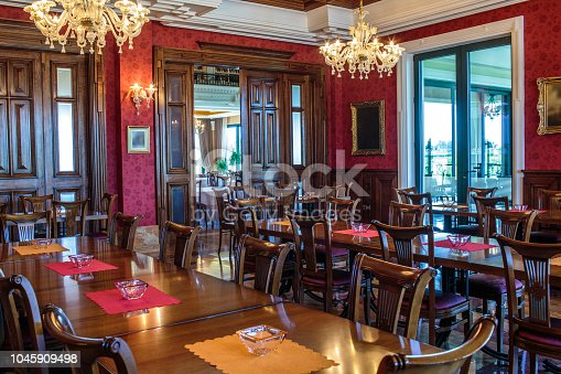 istock Luxury coffee shop interior 1045909498
