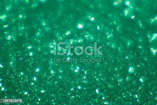 abstract emerald blurred background for holiday