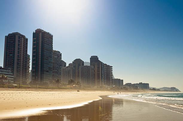 Luxury Condo Buildings in the Beach stock photo
