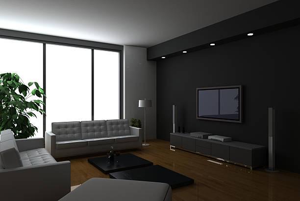 Luxury condo interiors (on white background!) stock photo