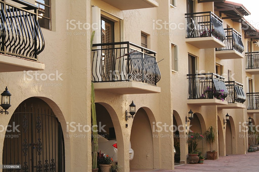 Luxury condominium complex in Florida royalty-free stock photo
