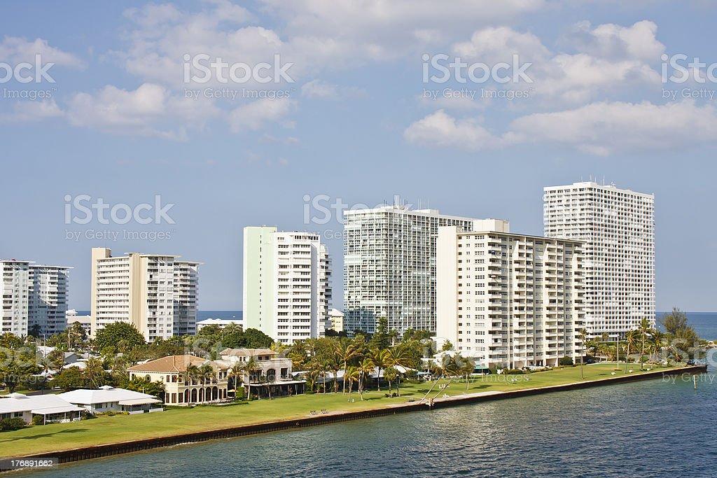 Luxury Condominiums on a Florida Coast royalty-free stock photo