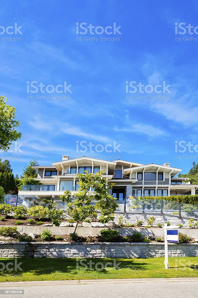 Luxury contemporary home for sale royalty-free stock photo