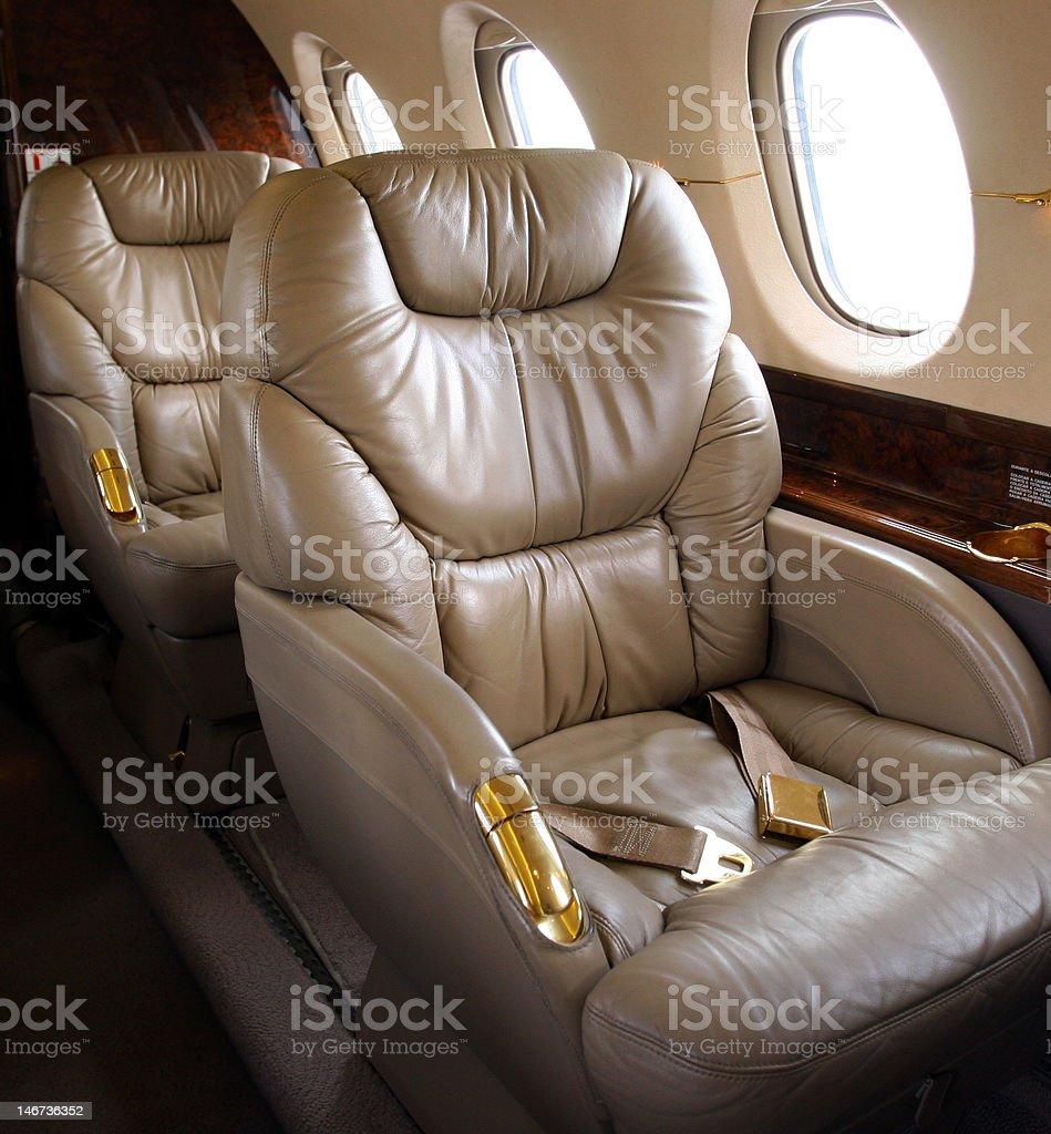 Luxury Corporate Jet Interior stock photo