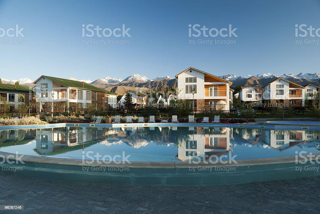 Luxury cottages royalty-free stock photo