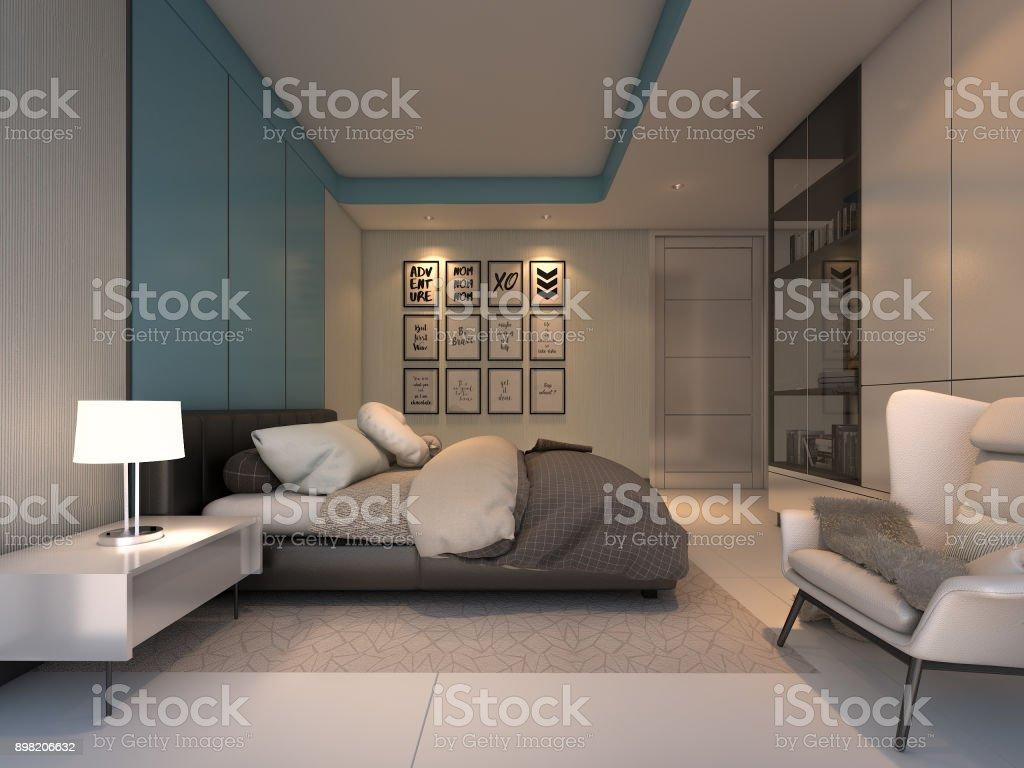 Luxury Cozy Bedroom 3d Rendering Stock Photo Download Image Now Istock