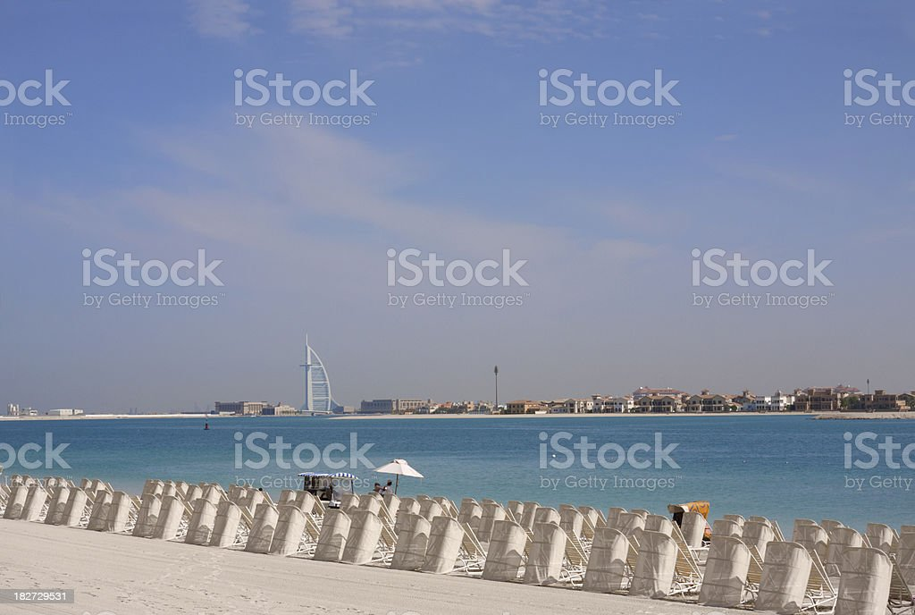 luxury deck chairs at a beach royalty-free stock photo