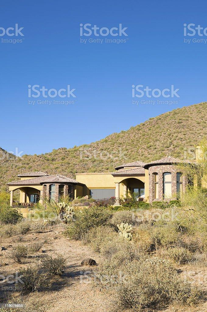 Luxury Desert Home stock photo