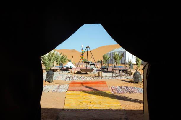 Luxus-Wüste Zelt-Camp in der Wüste Sahara – Foto