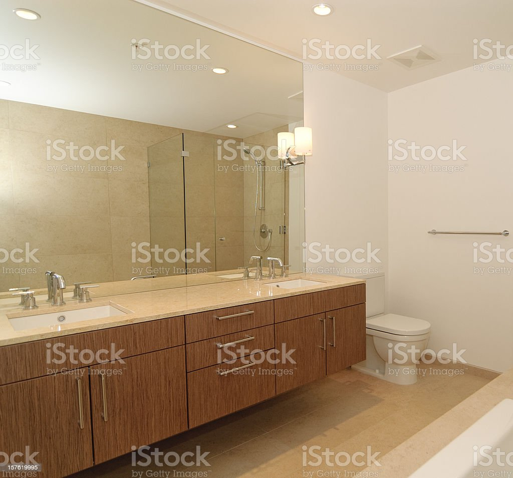 Luxury Designer Bathroom royalty-free stock photo