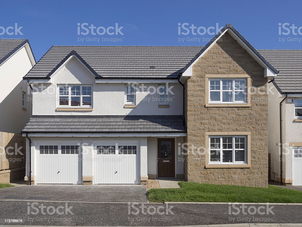 Luxury Detached Home stock photo
