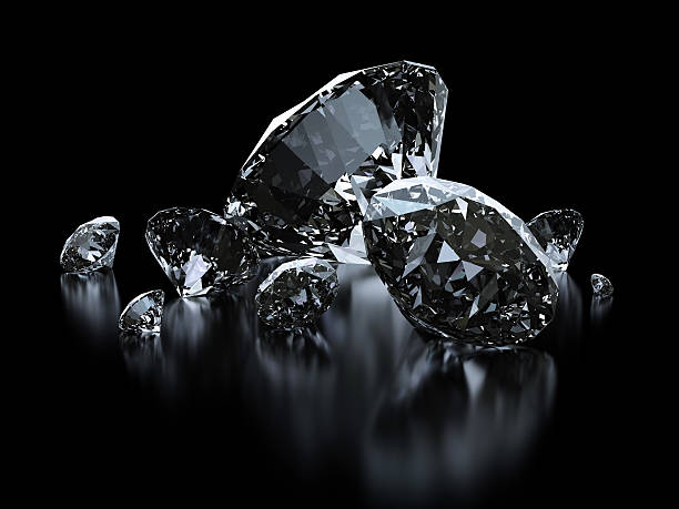 luxury diamonds on black backgrounds - money black background stock photos and pictures