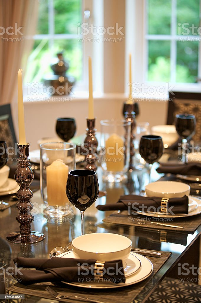 luxury dining royalty-free stock photo