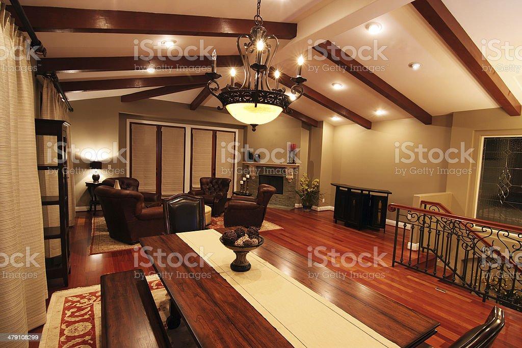 Luxury Dining Room stock photo
