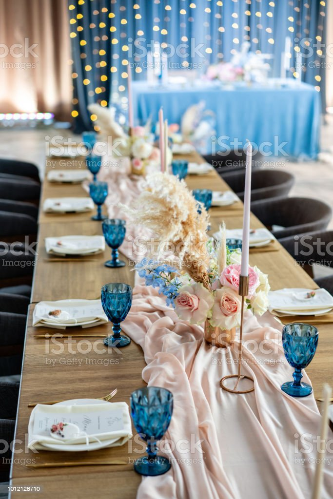 luxury dinner Banquet in the restaurant. Beautiful and exquisite...