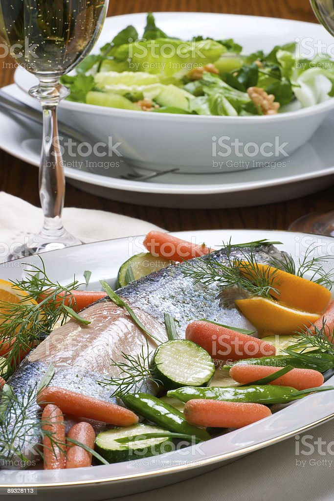 Luxury dinner royalty-free stock photo