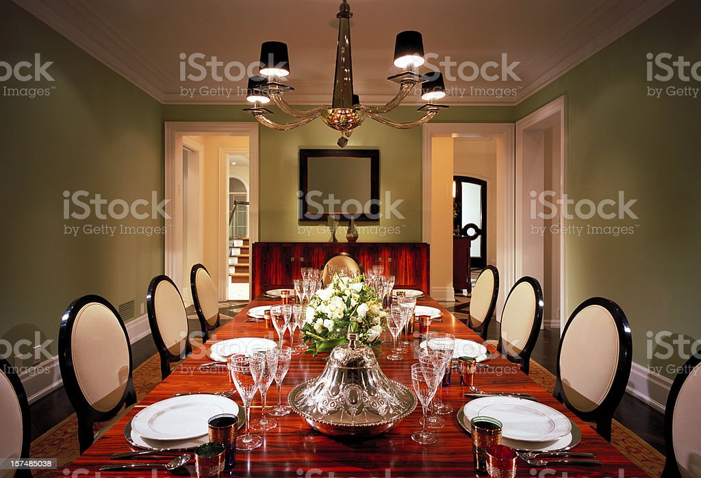 Luxury Dinning Room royalty-free stock photo