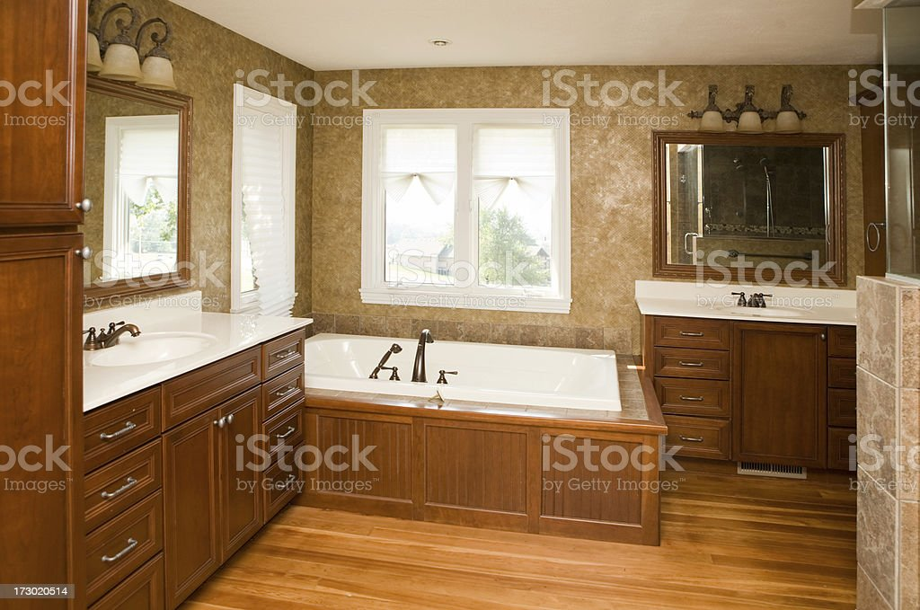 Luxury Double Sink Bathroom stock photo