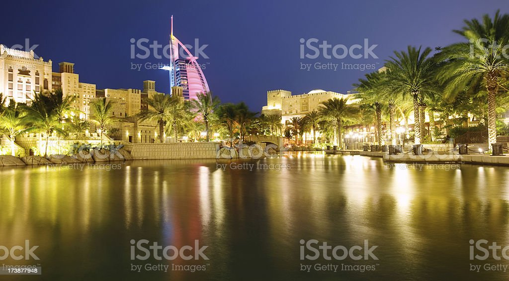 Luxury Dubai Hotels stock photo