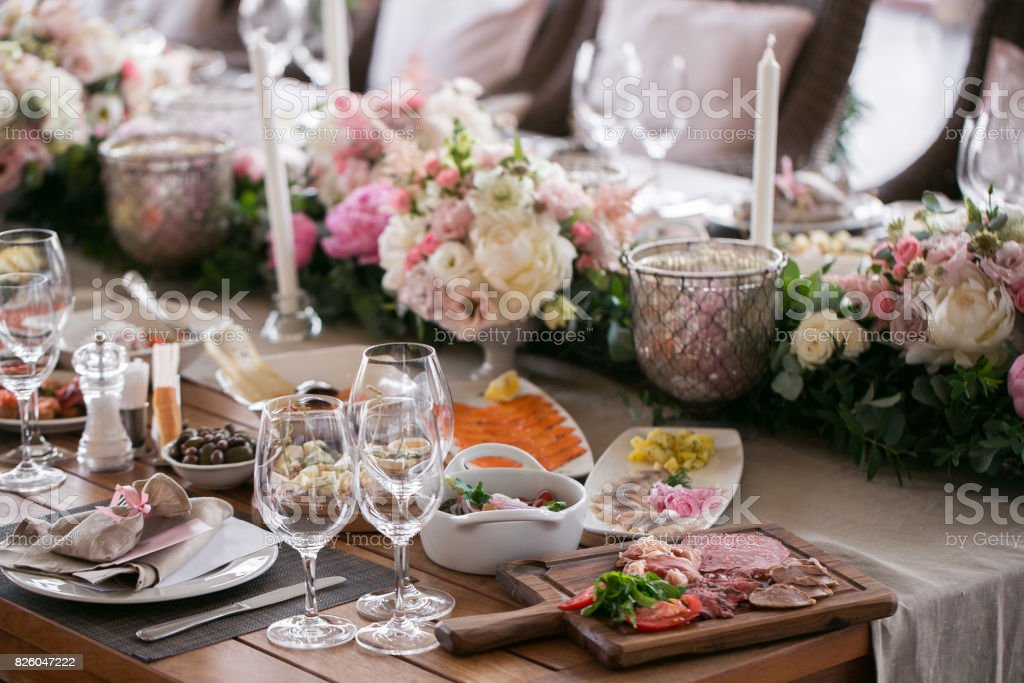 Luxury Elegant Wedding Reception Table Arrangement Floral