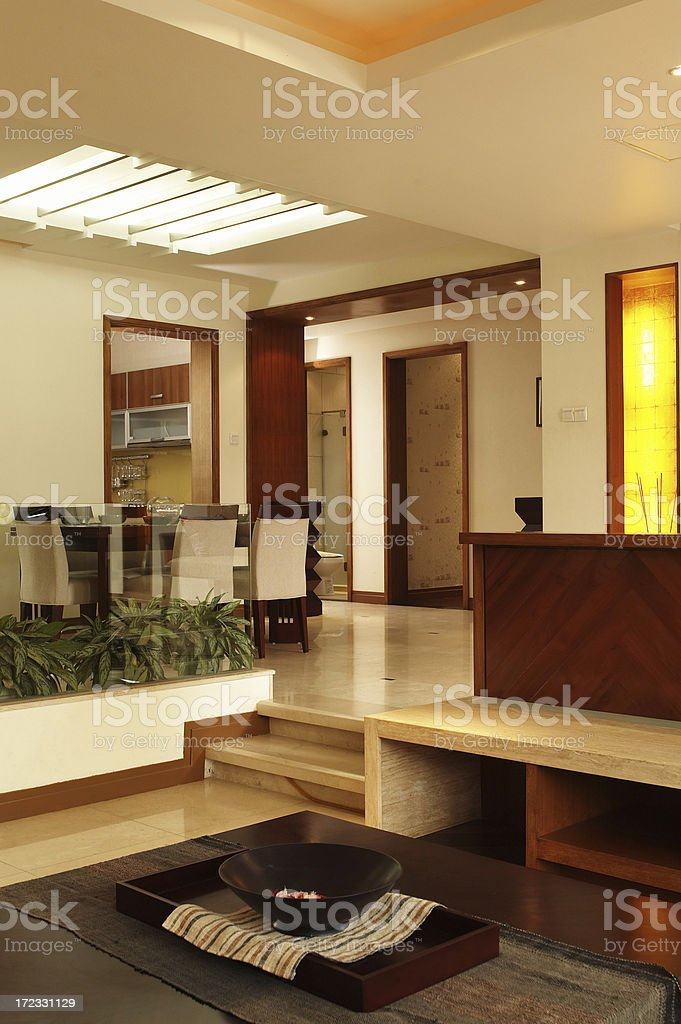 Luxury Entrance Hall With Living Room