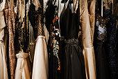 istock Luxury evening shining high fashion dresses 1179439481