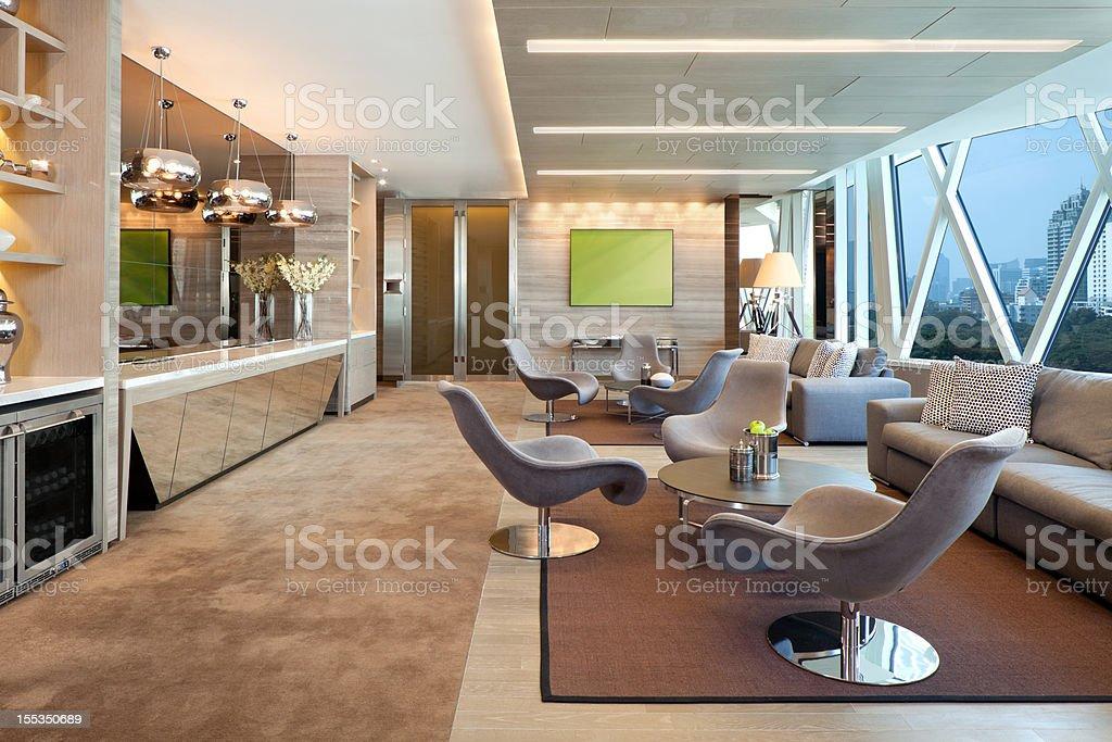 Luxury Executive Lounge stock photo