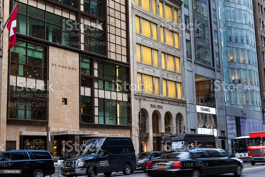 Luxury Fashion Brands Burberry Chanel Dior stock photo
