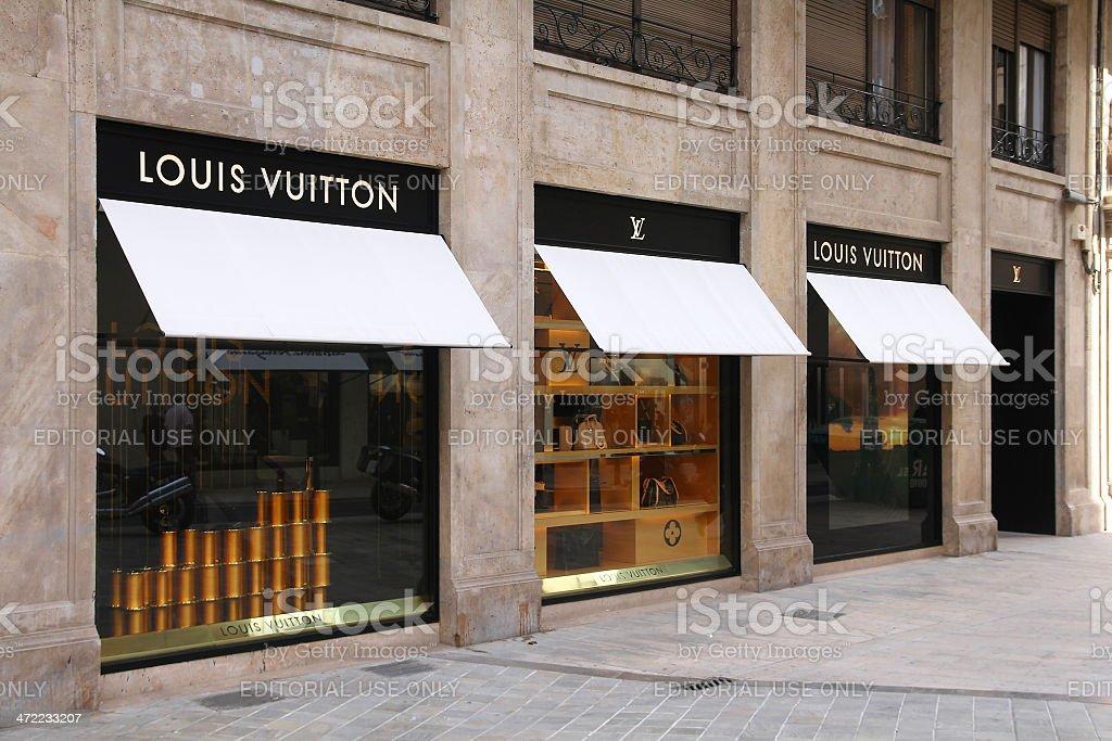 Luxury fashion - Louis Vuitton stock photo