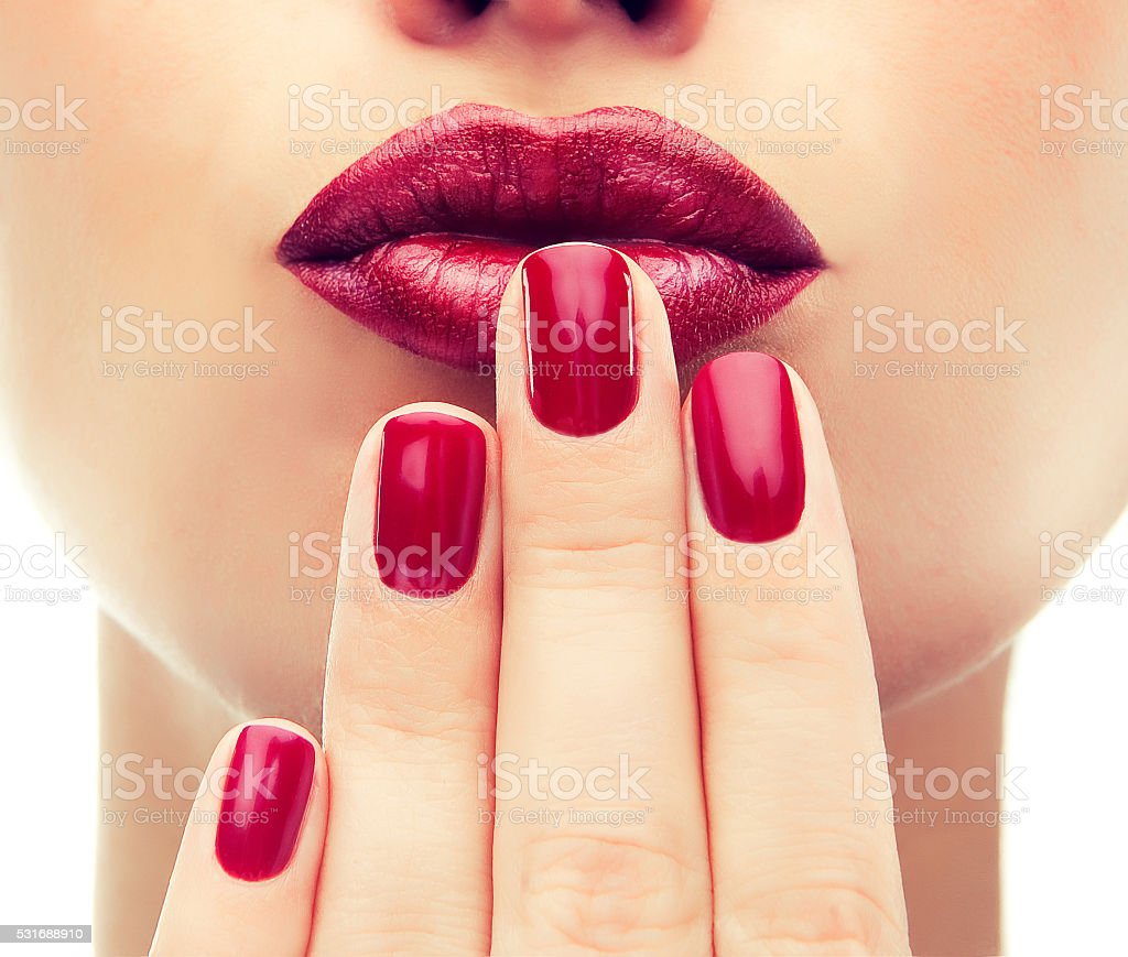 Luxury fashion style, manicure nail , cosmetics and makeup stock photo