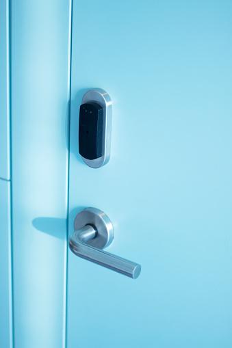 Luxury Five Star Hotel Bedroom Door And Aluminium Metal Door Handle And Security Key Card Pass Entry Swipe Stock Photo Download Image Now Istock